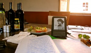 Tuscan sunlight, fresh fruit, Virginia Woolf and a writing journal: The Book Doctor's inspirations in Italy.